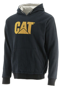'Caterpillar' Men's Trademark Thermal Lined Hoodie - Black