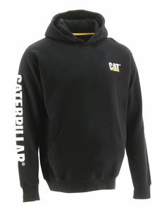 'Caterpillar' Men's Trademark Banner Hooded Sweatshirt - Black