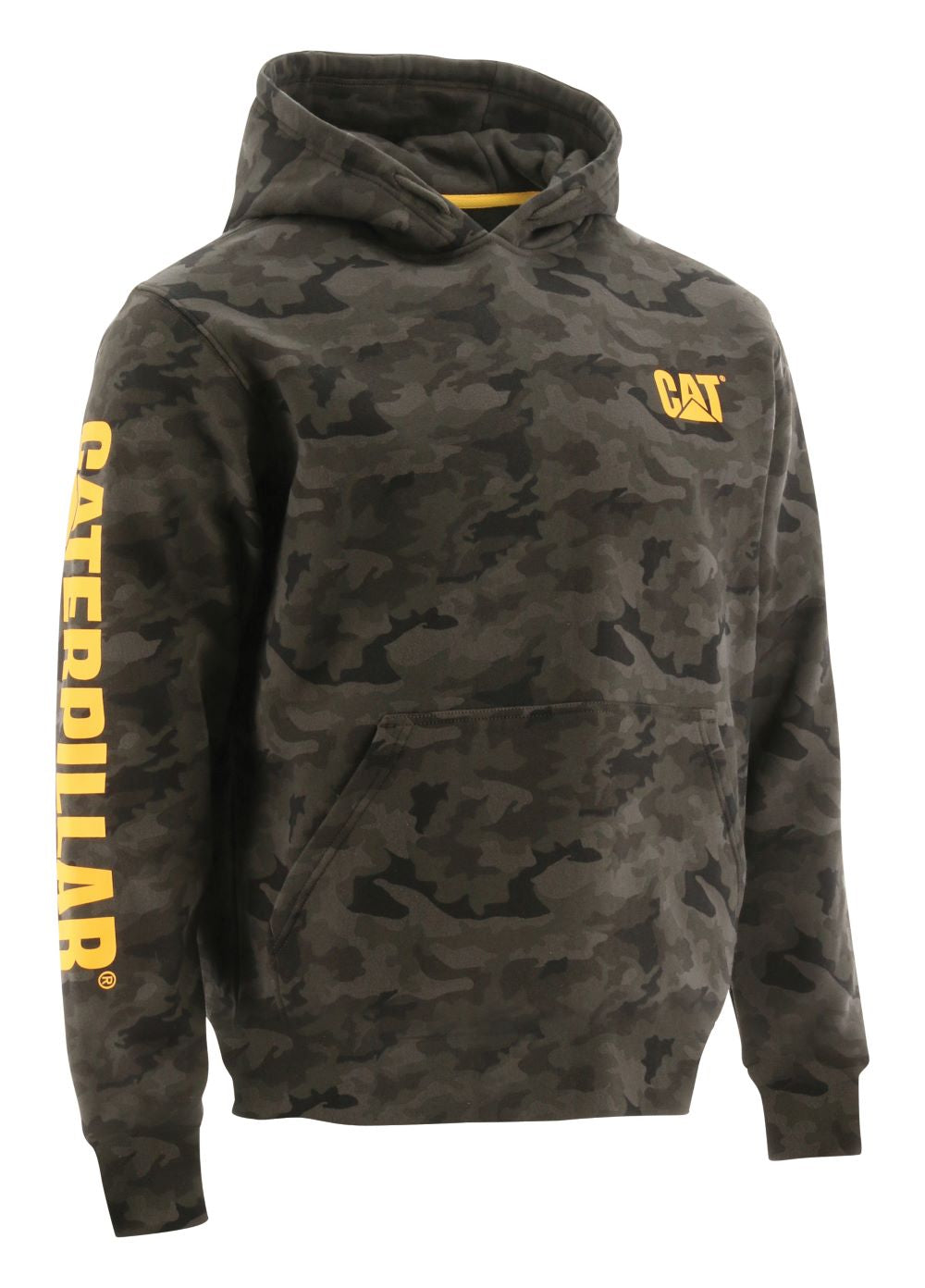 'Caterpillar' Men's Trademark Banner Hooded Sweatshirt - Night Camo