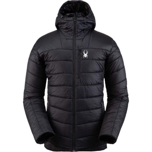 'Spyder' Men's Glissade Hooded Jacket - Black
