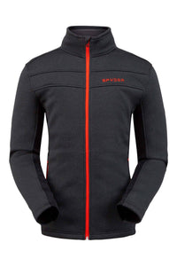 'Spyder' Men's Encore Full Zip Fleece - Black