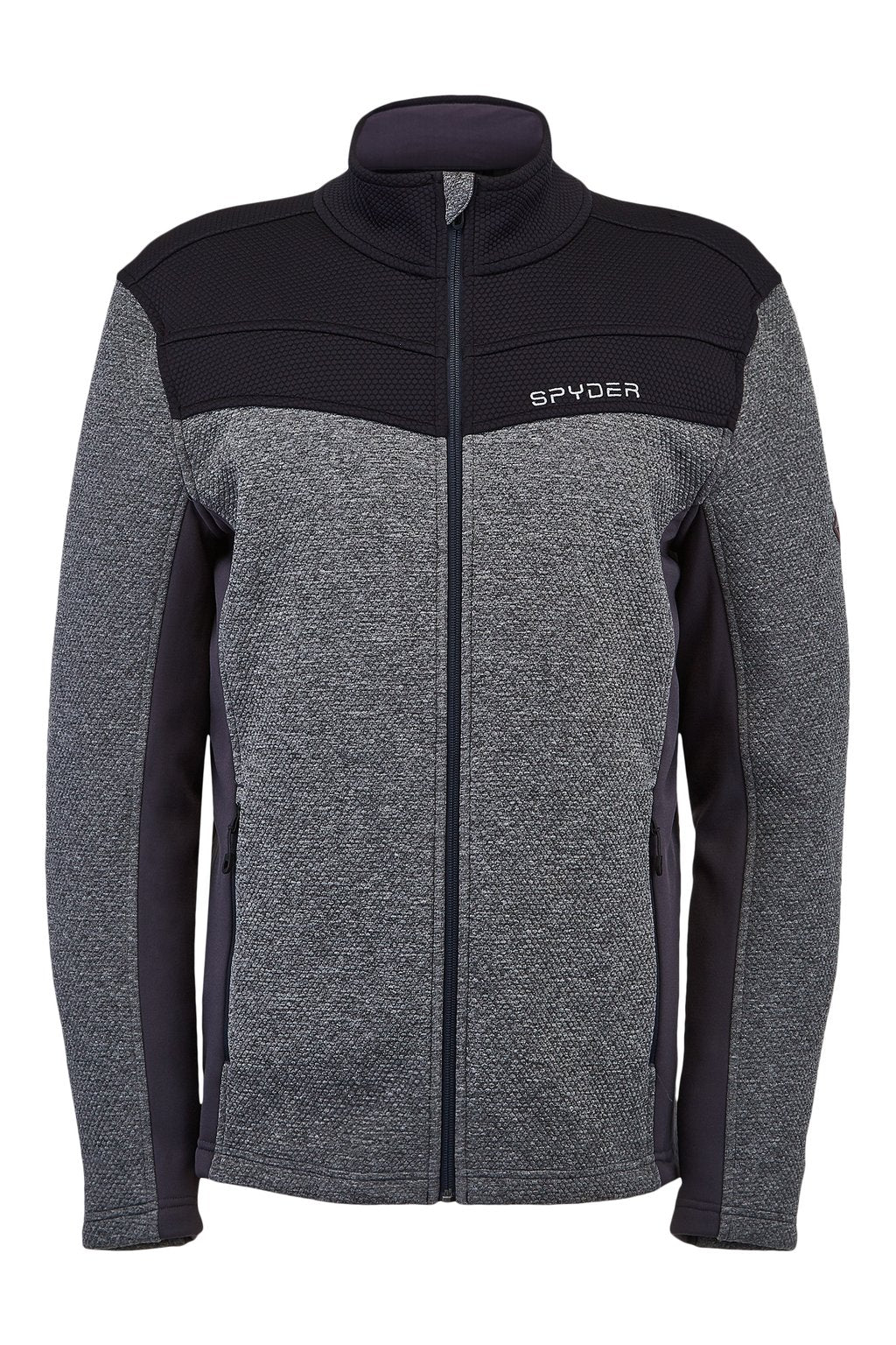 'Spyder' Men's Encore Full Zip Fleece - Ebony
