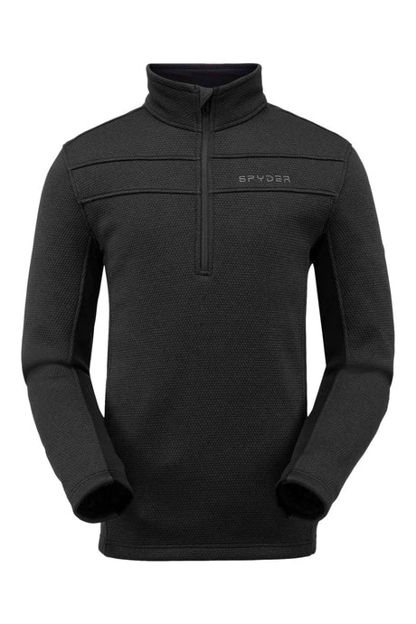 'Spyder' Men's Encore 1/2 Zip Fleece - Black