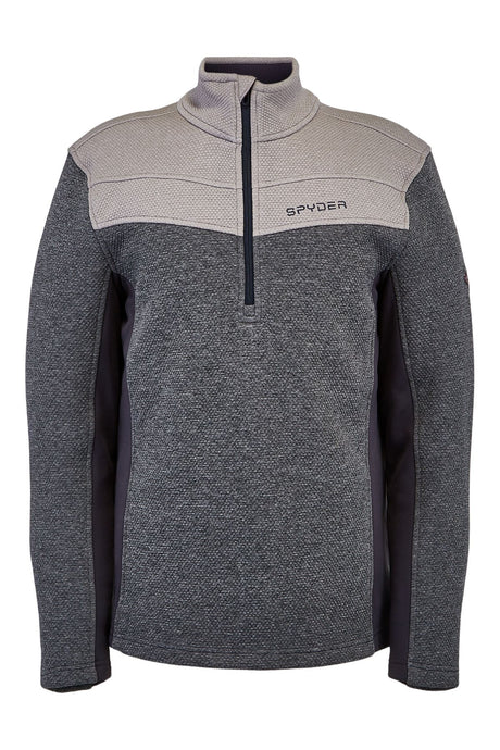 'Spyder' Men's Encore 1/2 Zip Fleece - Ebony Alloy