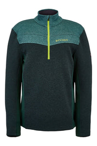 'Spyder' Men's Encore 1/2 Zip Fleece - Forest Ghost