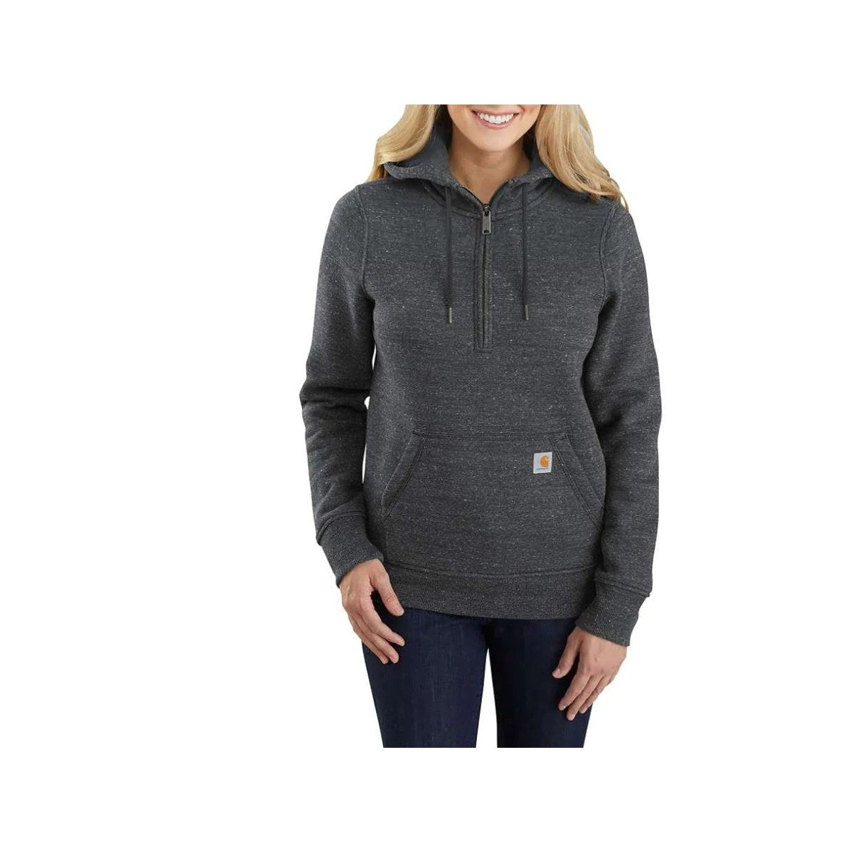 'Carhartt' Women's Clarksburg 1/2 Zip Sweatshirt - Black Heather