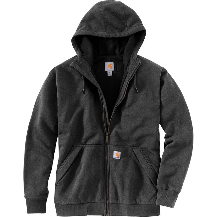 'Carhartt' Men's Rain Defender® Midweight Full Zip Hooded Sweatshirt - Black
