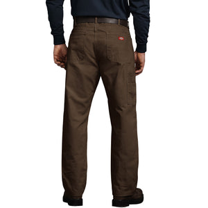 'Dickies' Relaxed Fit Straight Leg Carpenter Duck Jeans - Timber Brown