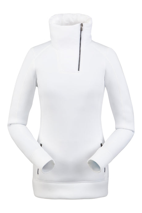 'Spyder' 194012 100 - Women's Monde Zip T-Neck – White