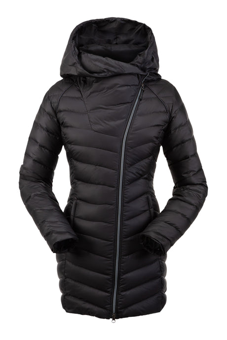 'Spyder' 194024 001 - Women's Timeless Long Down Jacket w/Hood - Black