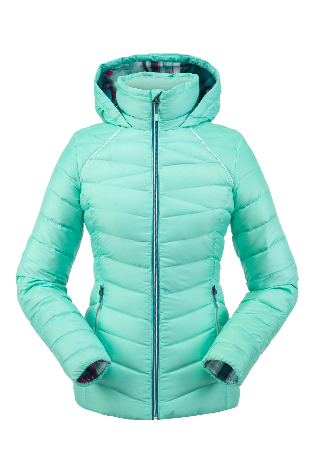 'Spyder' Women's Timeless Hoodie Down Jacket - Vintage