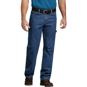 Relaxed Fit Carpenter Denim Jeans - Stonewashed Indigo Blue