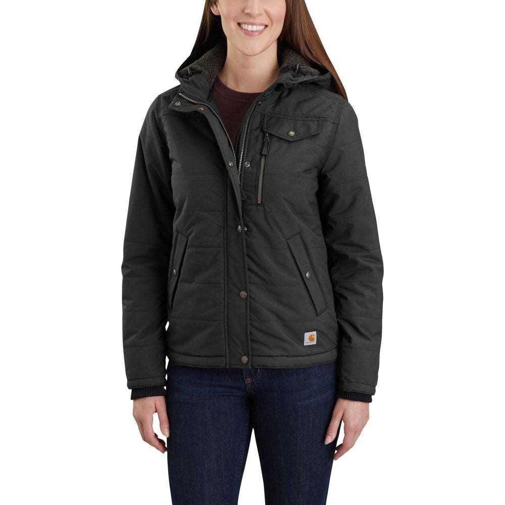 'Carhartt' Women's Utility Hooded Jacket - Black
