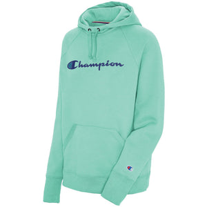 'Champion' Women's Powerblend Hoodie - Light Sea Green