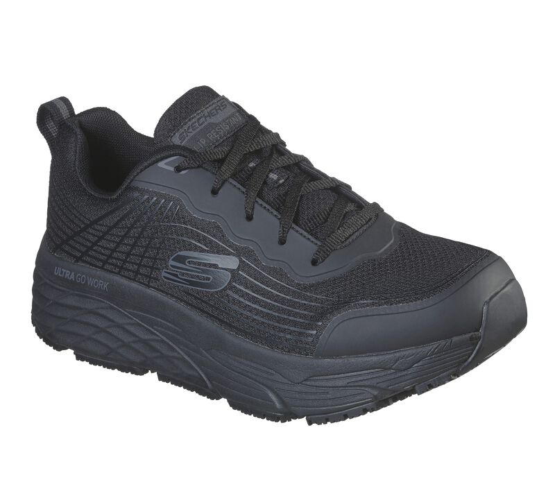 'Skechers' Men's Max Cushioning Elite SR Soft Toe - Black (Wide)