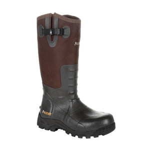 'Rocky' Men's Sport Pro Rubber Snake Boot - Brown