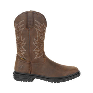 "'Rocky' Men's 11"" Worksmart SR WP Western - Brown"