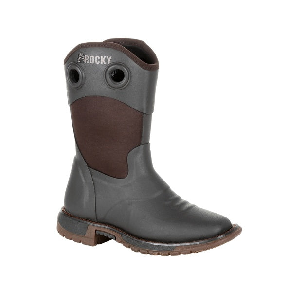 'Rocky' RKW0292Y - Youth Western Neoprene Boot -  Dark Chocolate