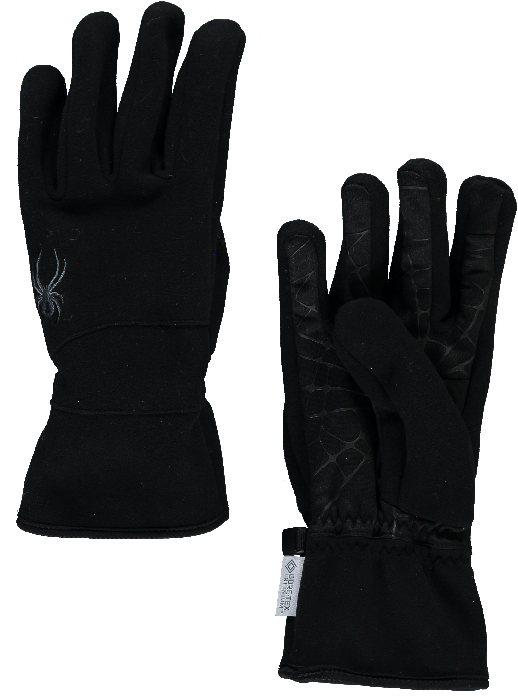 'Spyder' Men's Wander Infinium Fleece Gloves - Black