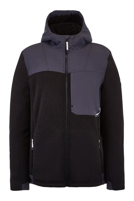 'Spyder' Men's Alps Full Zip Hoodie - Black