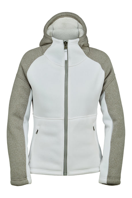 'Spyder' Women's Alps Full Zip Fleece Jacket - White