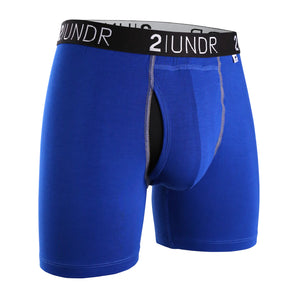 "'2UNDR' Men's Swing Shift 6"" Boxer Brief - Blue"