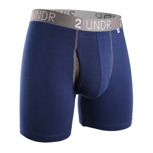 "'2UNDR' Men's Swing Shift 6"" Boxer Brief - Navy"