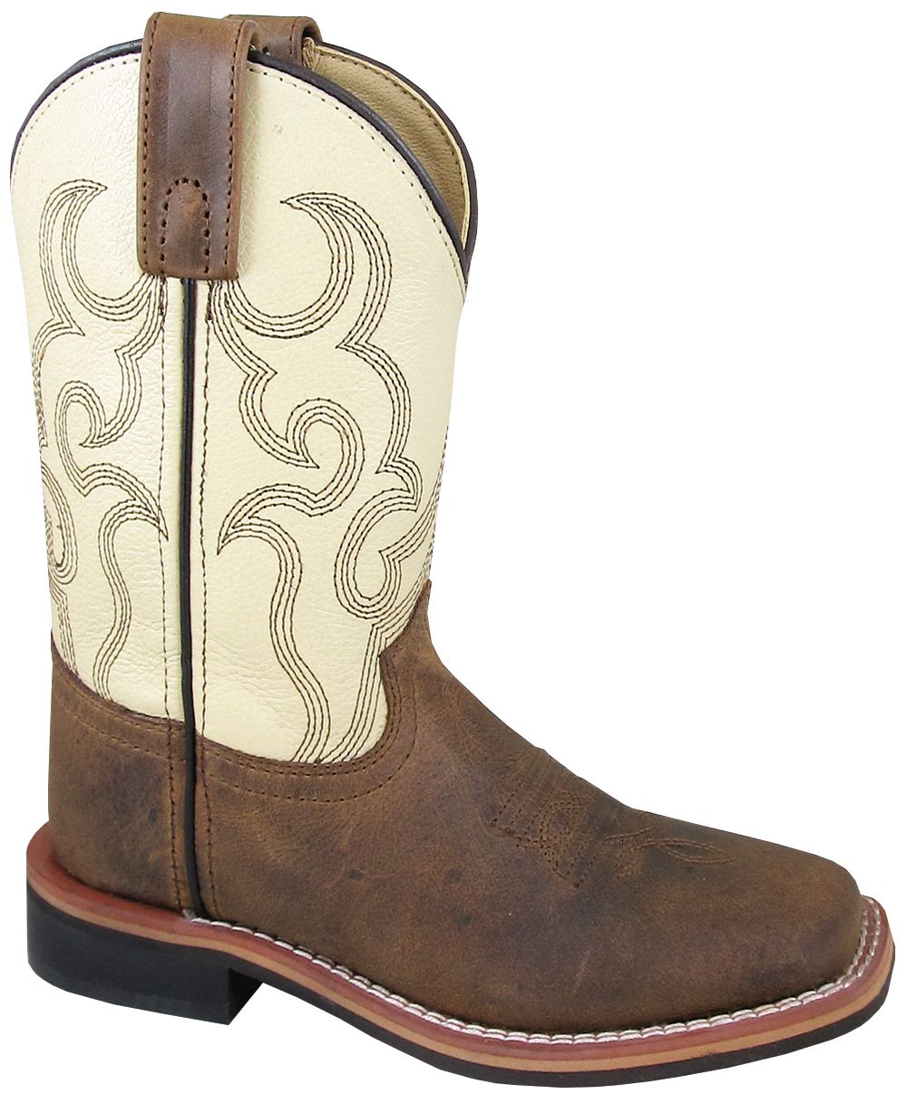 'Smoky Mountain' Children's Scout Western Square Toe - Brown / Cream
