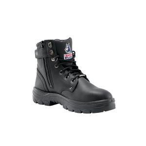 "Argyle 6"" Side Zip ESD Steel Toe Boot - Black"