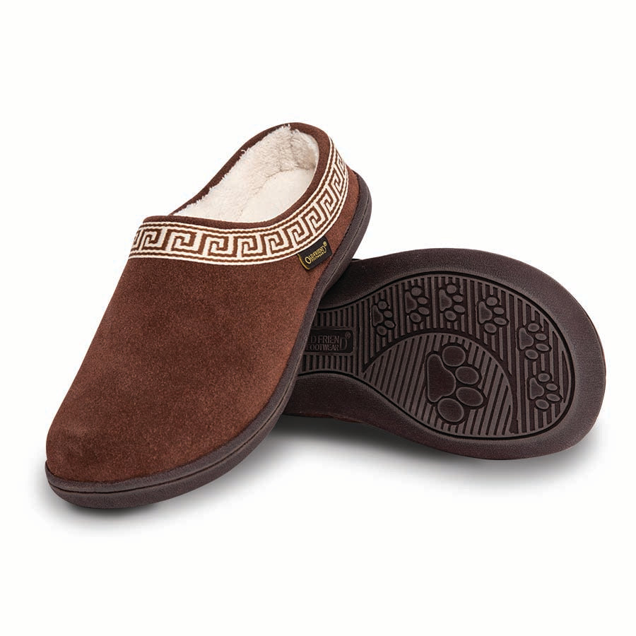 'Old Friend Footwear' Women's Emma Slipper - Chocolate Brown