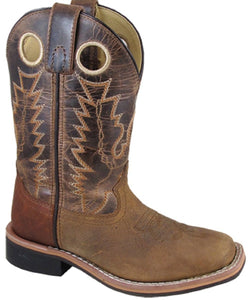 'Smoky Mountain' Children's Jesse Square Toe - Distressed Brown / Brown Crackle
