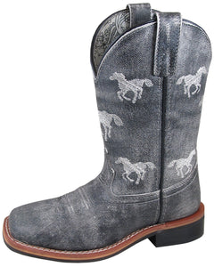 'Smoky Mountain' Children's Western Square Toe - Grey