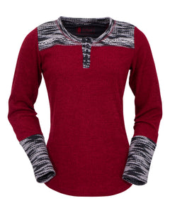 'Outback' 40146 - Women's LS Becky Tee - Red