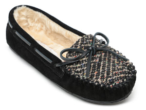 'Minnetonka' 4029 - Women's Cally Slipper - Black