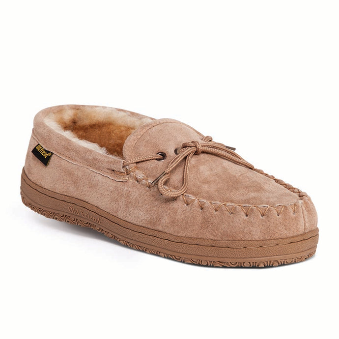 'Old Friend Footwear' Men's Loafer Moccasin Slipper - Chestnut I