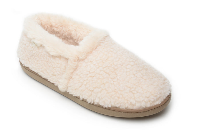 'Minnetonka' Women's Dina Slipper - Cream