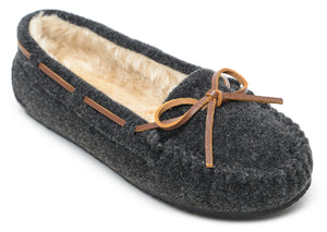 'Minnetonka' 4408 - Women's Cally Slipper - Charcoal