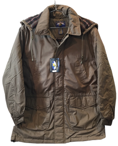 'Falcon Bay' Men's Classic Big & Tall Parka - Taupe