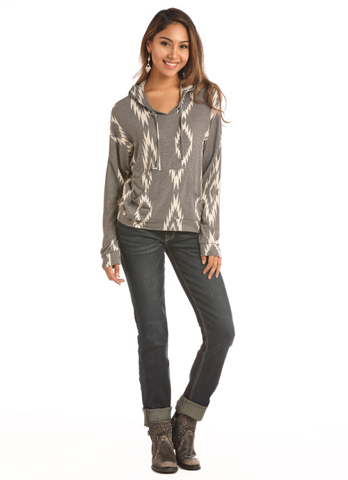 'Rock & Roll Cowgirl' 48H2901 01 - Junior Lightweight Pullover - Heather / White