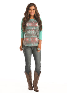 'Rock & Roll Cowgirl' 48T2906 86 - 3/4 Sleeve Dale Brisby Tee -