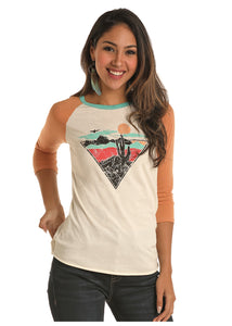 'Rock & Roll Cowgirl' Jr's Graphic Tee - White