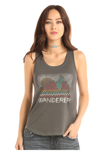 'Rock & Roll' 49-1641 - Wanderer Tank Top - Charcoal