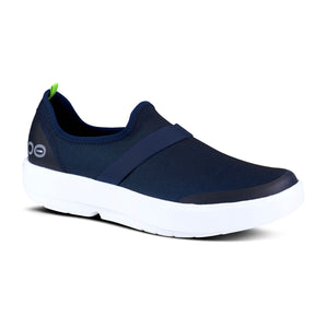 'OOFOS' Women's OOmg Fibre Low Sneaker - White / Navy