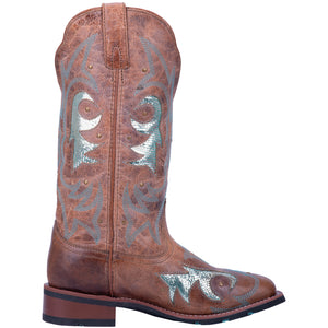 "'Laredo' Women's 12"" Aquarius Western Square Toe - Brown"