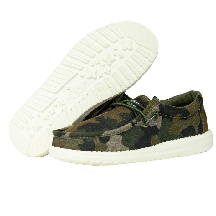 'Hey Dude' Youth Wally Linen - Camo