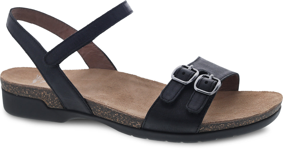 'Dansko' Women's Rebekah Sandal - Black Waxy Burnished