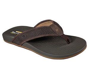 'Skechers' 65093EWW DKBR - Pelim Emiro Sandals - Dark Brown