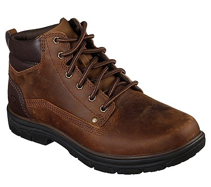 'Skechers' Men's Relaxed Fit: Segment Garnet Hiker - Brown (Wide)