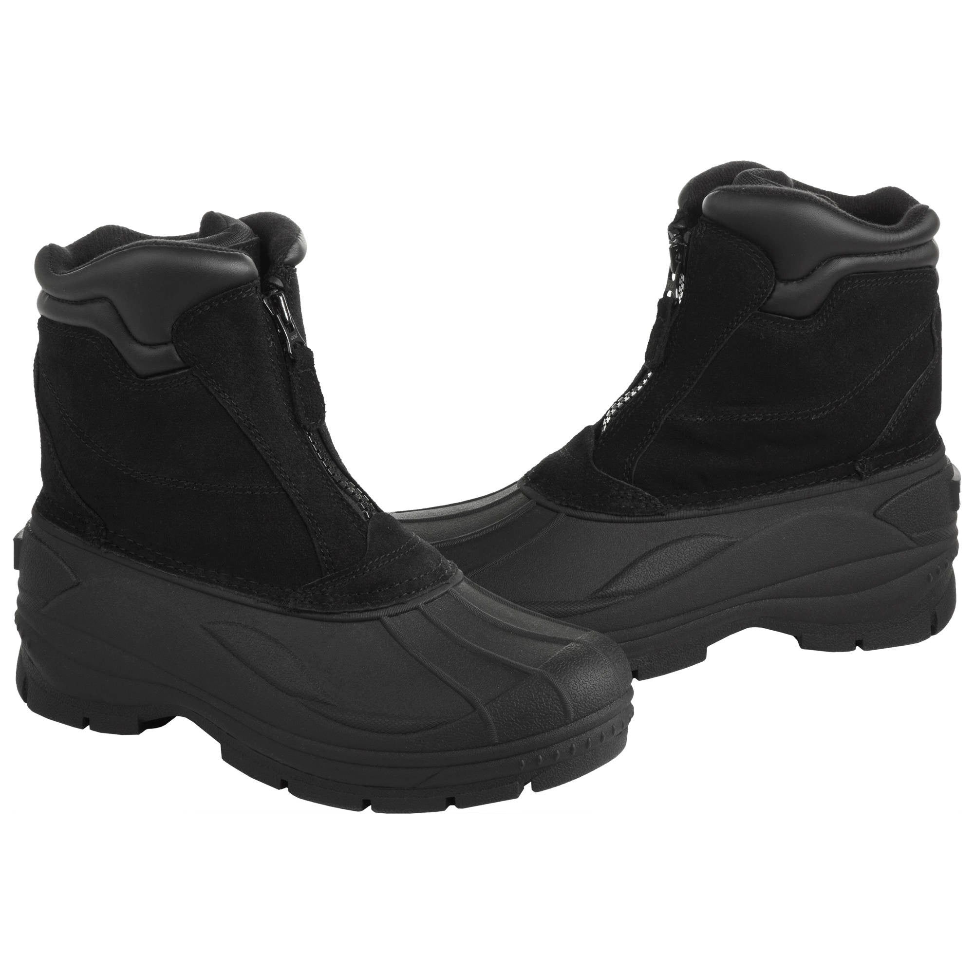 'Totes' Men's Glacier Zip Insulated Boots - Black