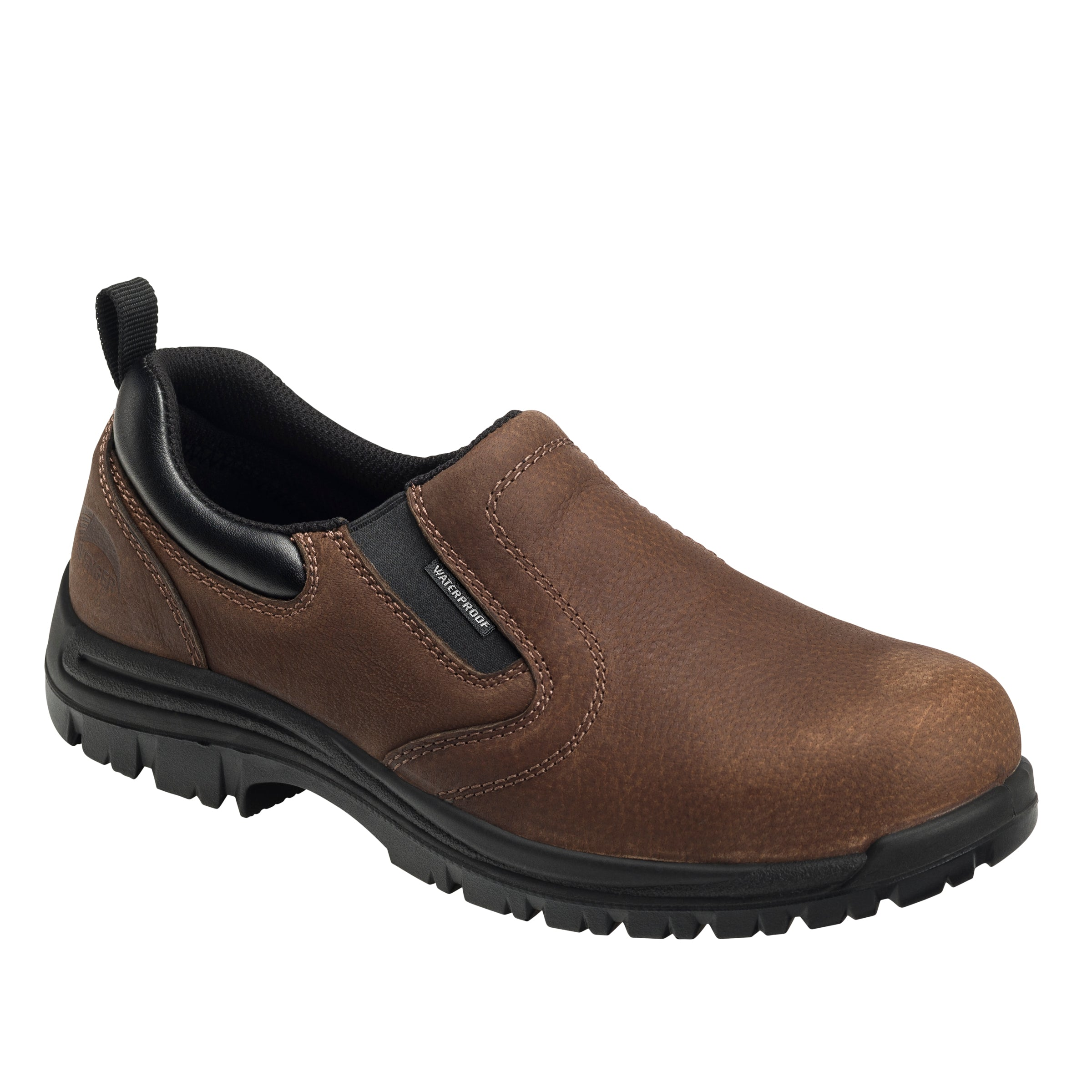 'Avenger' Men's WP EH Comp Toe Slip On - Brown